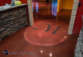 Stained Concrete Gallery Polished Concrete Floors El Matador Restaurant 2