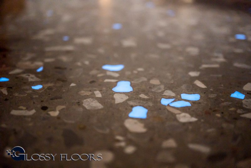 Polished Concrete Floors Glow In The Dark Exposed Aggregate
