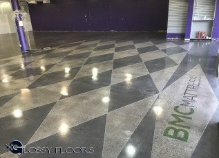 Stained Concrete Gallery Polished Concrete Mattress Showroom 74