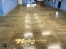 polished concrete with a multicolored logo Polished Concrete With A MultiColored Logo Polished Concrete Showroom with Logo 13