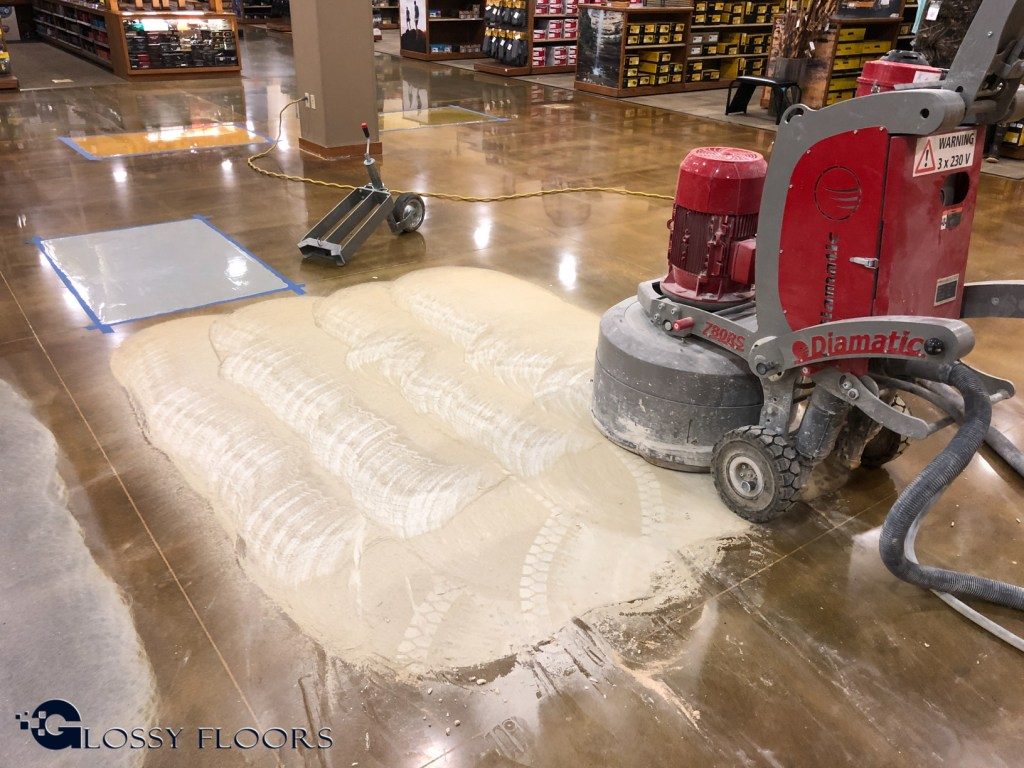 Polished Concrete Cabela S Bass Pro Shops Combo Store In