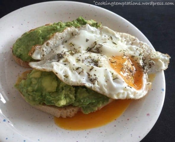 Butter Fruit Avocado Recipies - The one with the Fried Egg 1