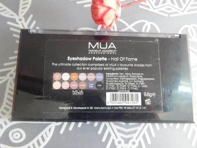 MUA Hall of Fame Eyeshadow Palette Review 4