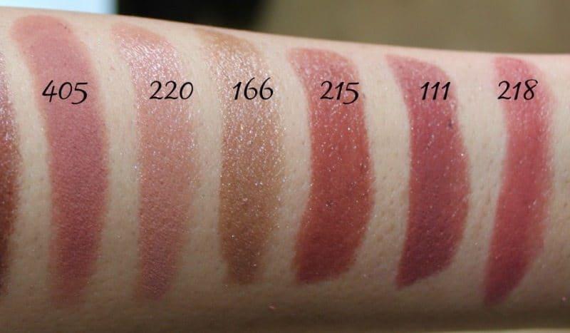Inglot Lipstick swatches 18