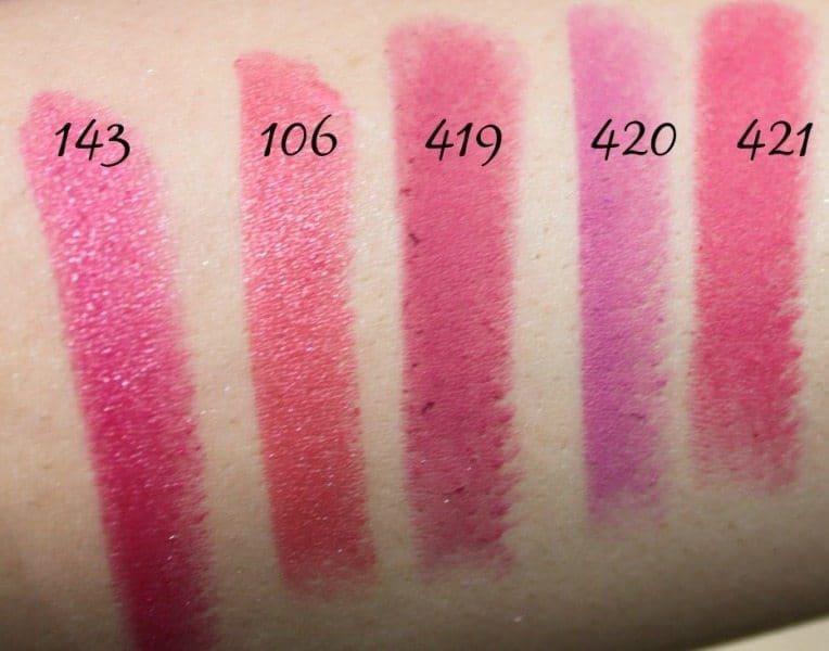 Inglot Lipstick swatches 23