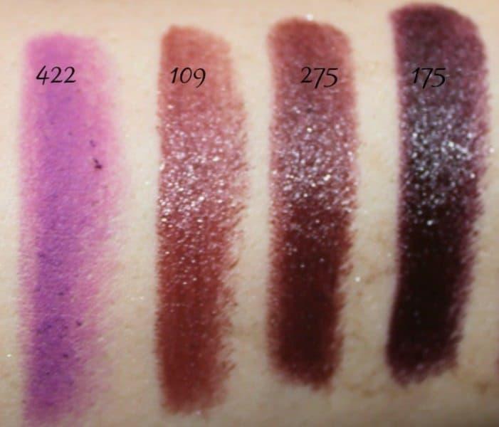 Inglot Lipstick swatches 24