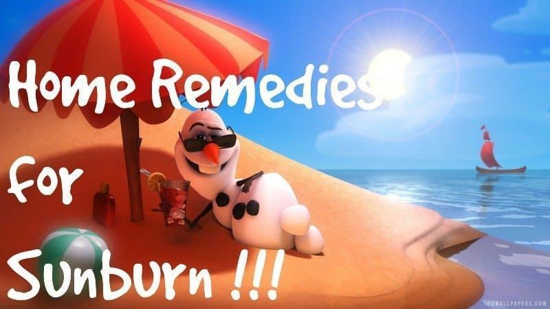 10 home remedies for sun burn 7