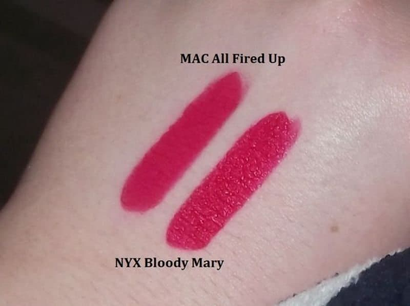 MAC All Fired Up Dupes 4