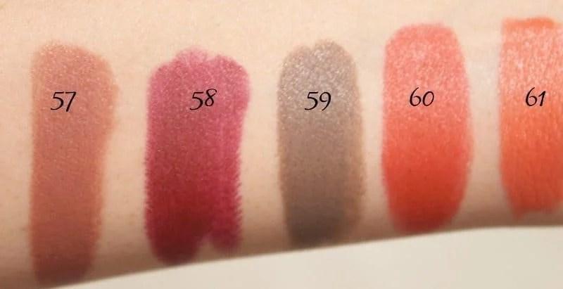 MAC Lipstick Swatches 16
