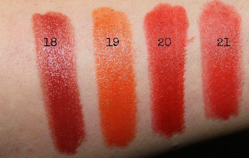 colorbar lipstick swatches 8