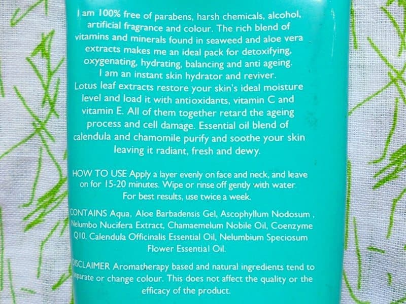 Aroma Magic Hydrating Seaweed Pack Review 1