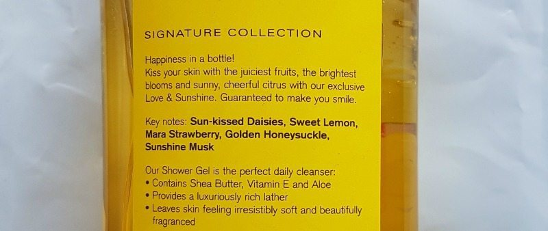 Bath And Body Works Love And Sunshine Shower Gel 1