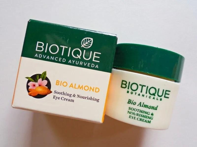 Biotique Bio Almond Soothing & Nourishing Eye Cream Review