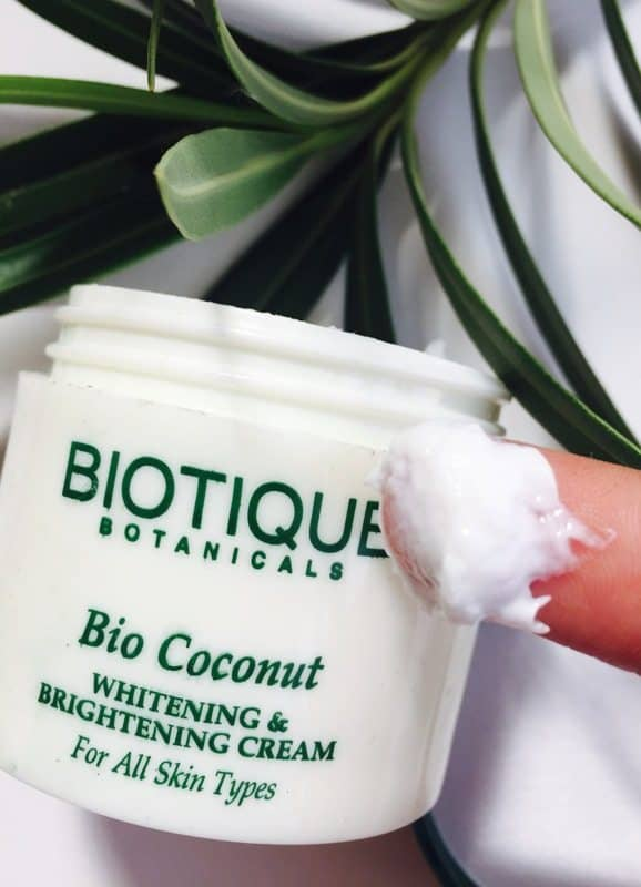 Biotique Bio Coconut Whitening and Brightening Cream 3