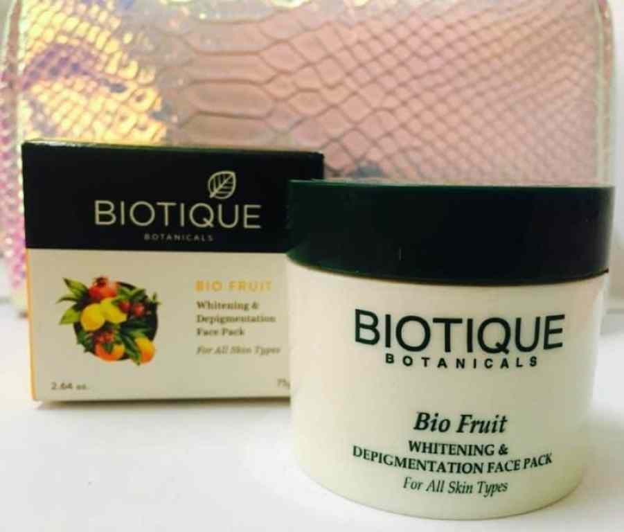 Biotique Bio Fruit Whitening and Depigmentation Face Pack Review