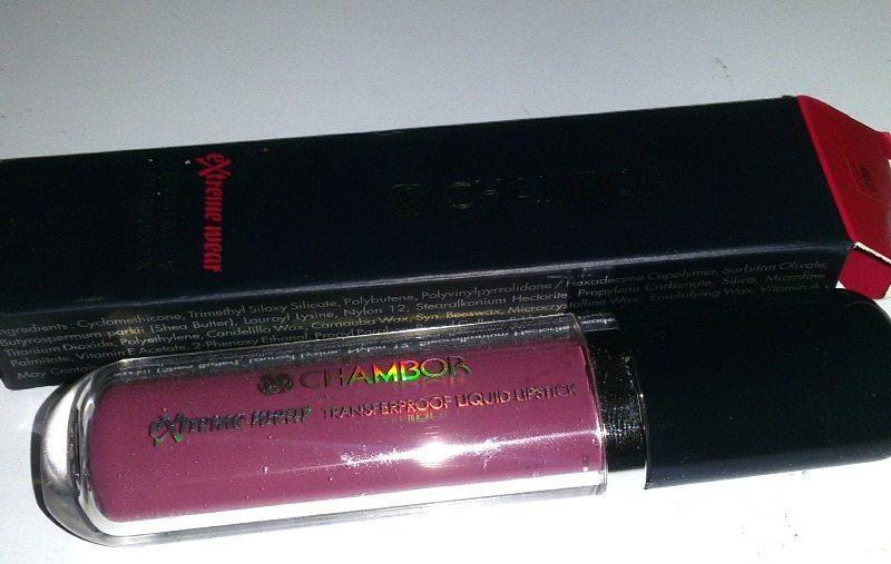 Chambor Extreme Wear Transferproof  Liquid Lipstick  Fall In Rose 404