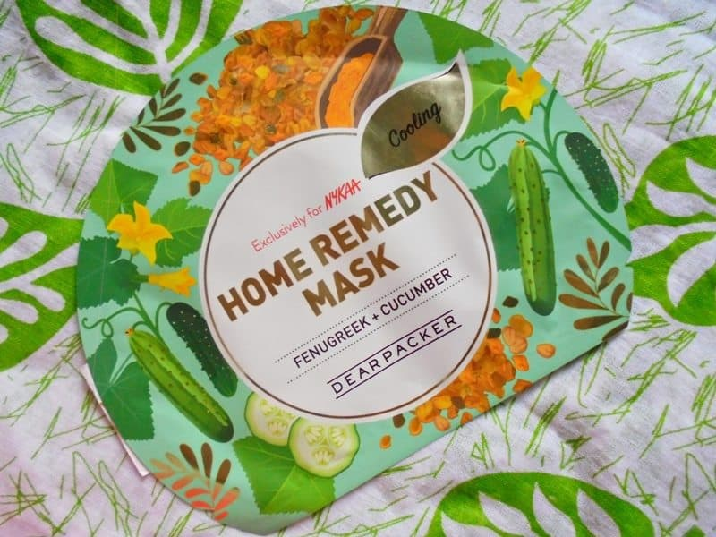 Dear Packer Fenugreek + Cucumber Home Remedy Mask Review 4