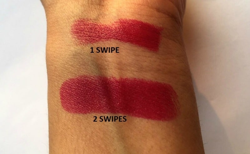 Elle 18 Color Pop Matte Lip Color Pink Show Review 2