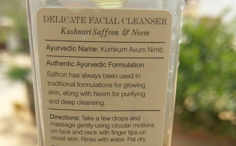 Forest Essentials Delicate Facial Cleanser Kashmiri Neem and Saffron 1