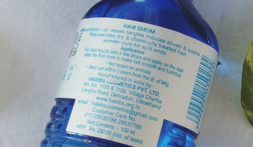 Habibs Aesthetics Hair Serum For Dry Curl and Treated Hair