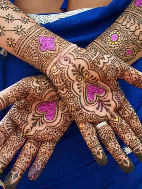 Henna Designs – Choose your Love Mehendi Design with Hearts 6