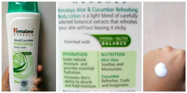 Himalaya Aloe and Cucumber Refreshing Body Lotion