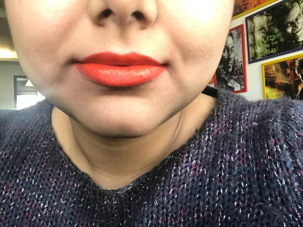 Inglot Lipstick 103 Review 3