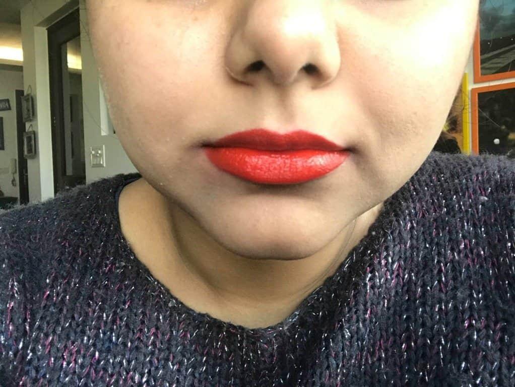 Inglot Lipstick 127 Review 6