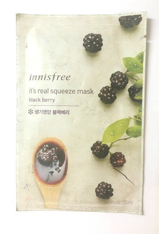 Innisfree My Real Squeeze Mask Blackberry