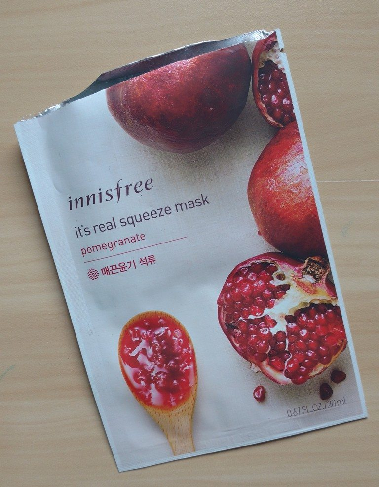 Innisfree its Real Squeeze Mask Pomegranate Review