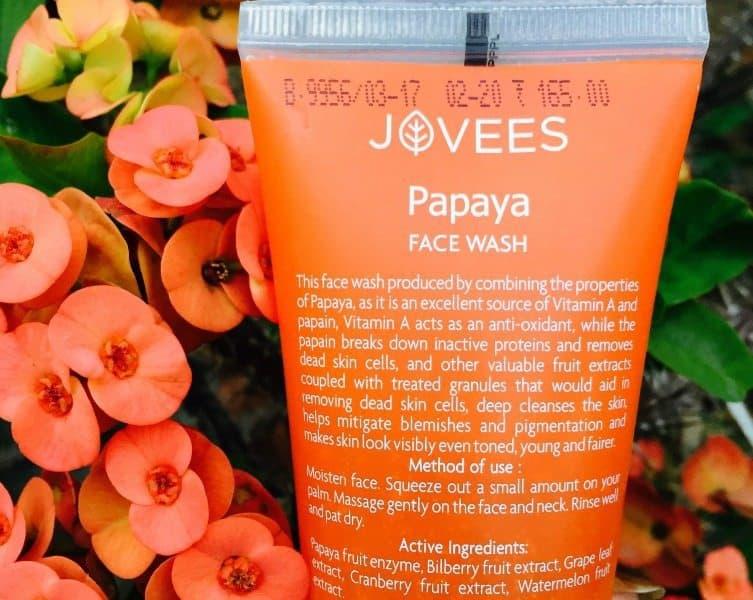 Jovees Papaya Face Wash Review 1