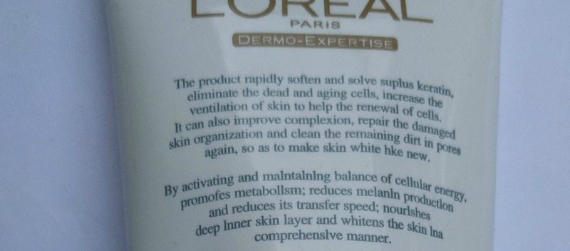 Loreal Paris Dermo-Expertise Deep Whitening Radiance Exfoliating Crème Review 4