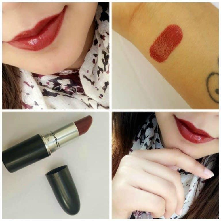 MAC Dubonnet Amplified Lipstick Review 5