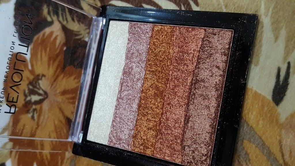 Makeup Revolution London Shimmer Brick Rose Gold Review 2