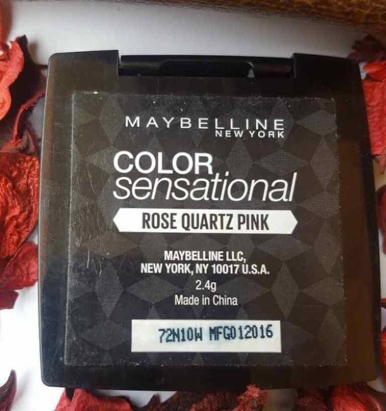Maybelline Color Sensational Eyeshadow Palette Rose Quartz Pink  2