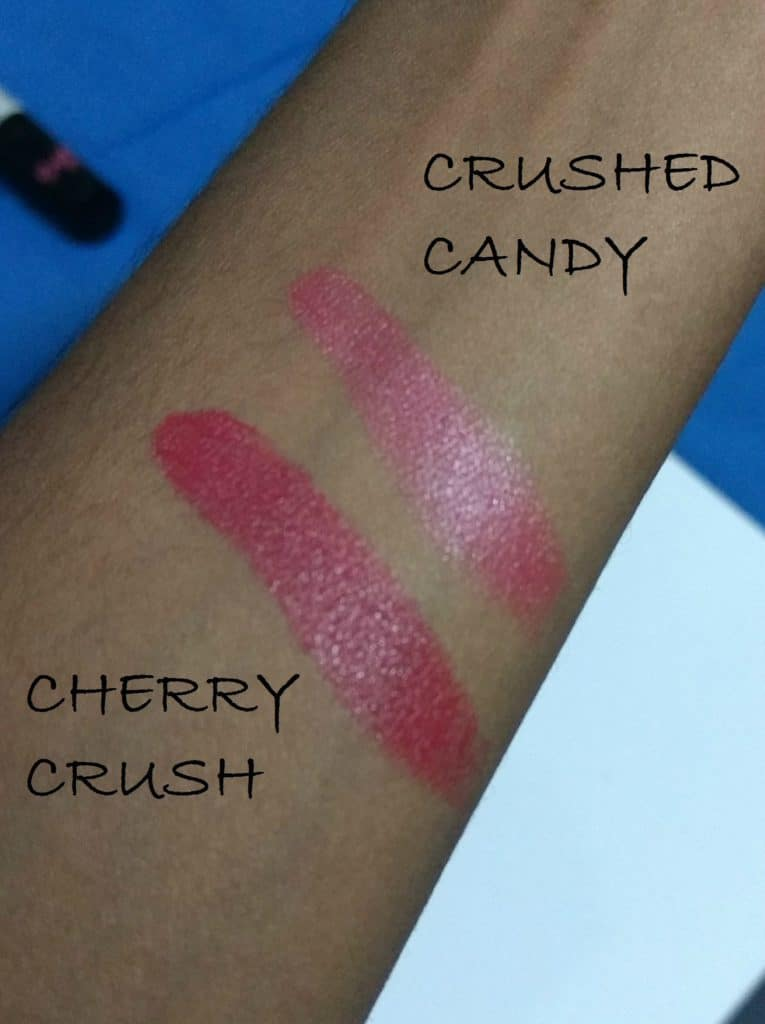 Maybelline Color Show Lipstick Crushed Candy and Cherry Crush Review 5