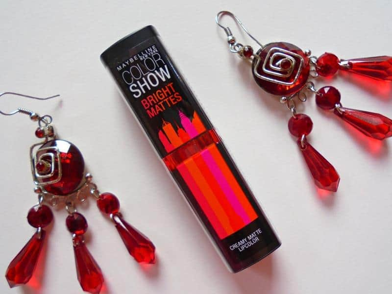 Maybelline Colorshow Bright Mattes Lipstick Brilliant Red M214