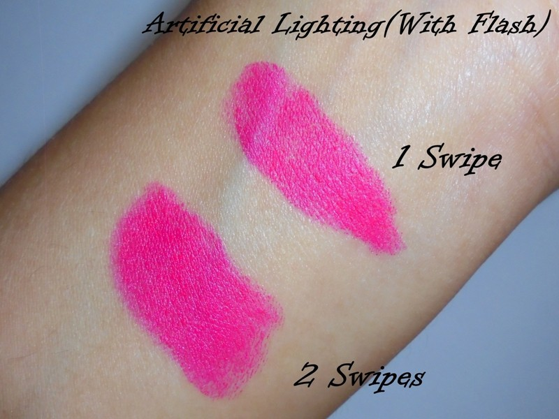 Maybelline Colorshow Bright Mattes Peppy Pink M105 6