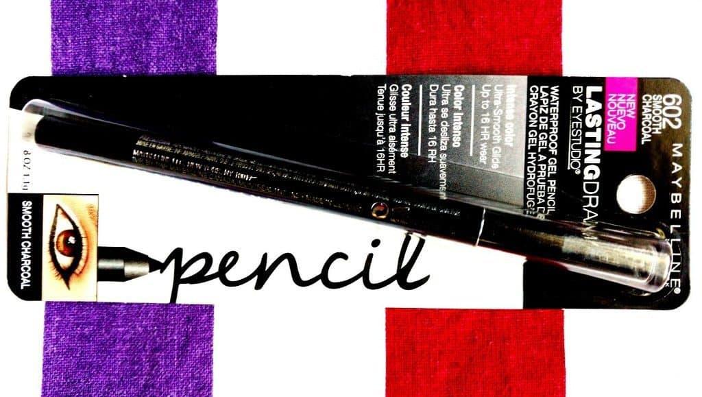 Maybelline Lasting drama Eyestudio Waterproof Gel Pencil Smooth Charcoal Review