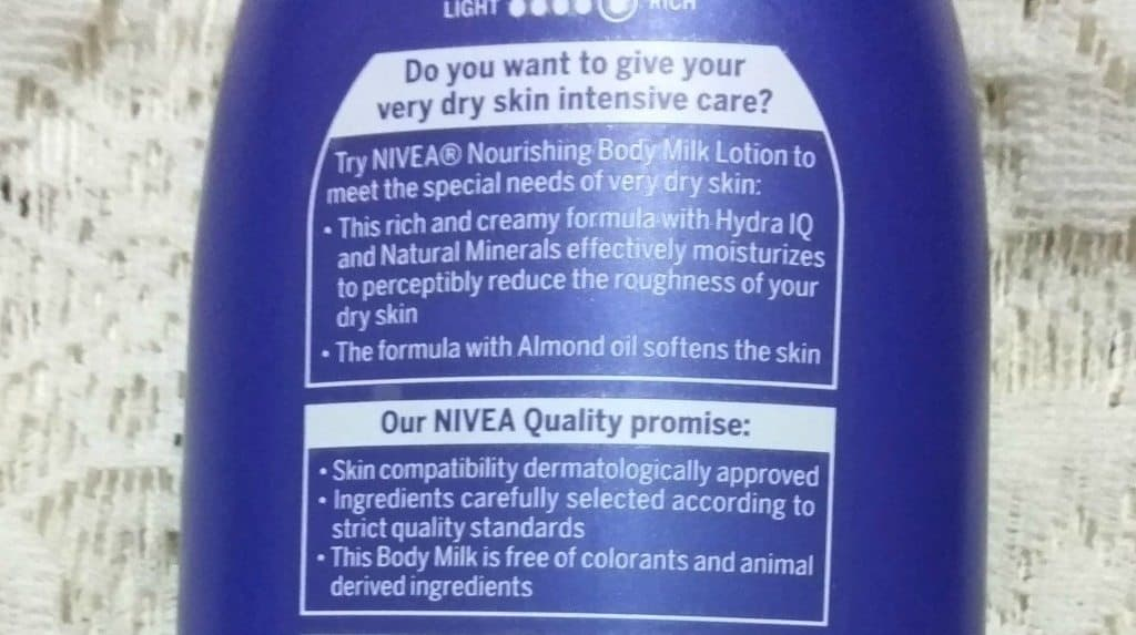 Nivea Body Milk Nourishing Lotion  With Almond Oil Review 2