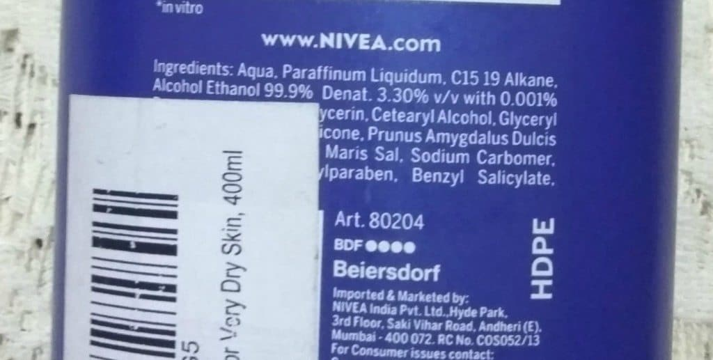 Nivea Body Milk Nourishing Lotion  With Almond Oil Review 3