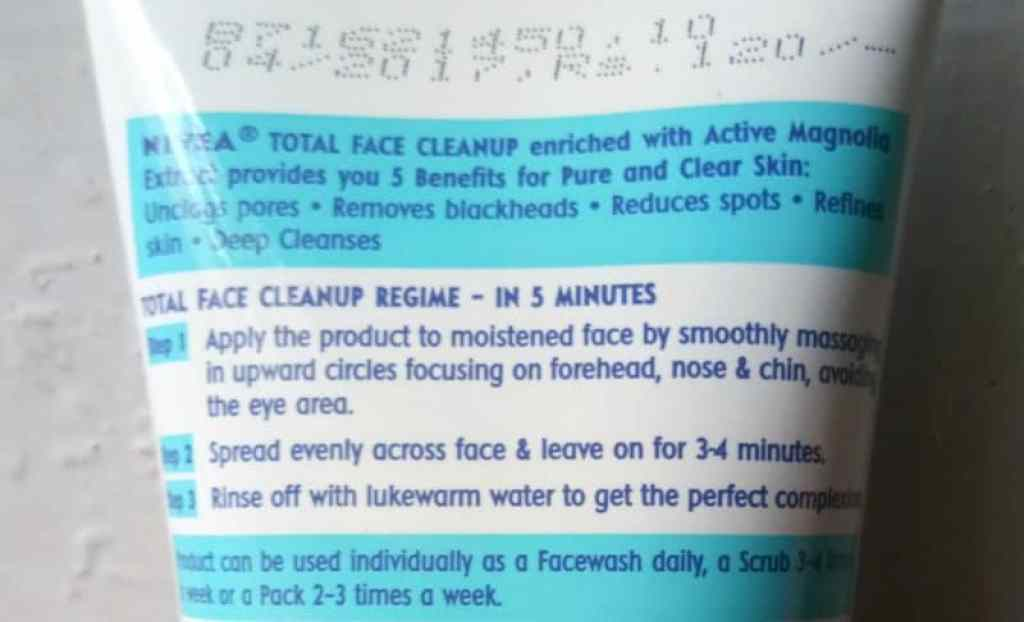 Nivea Total Face Cleanup Face Wash Review 4