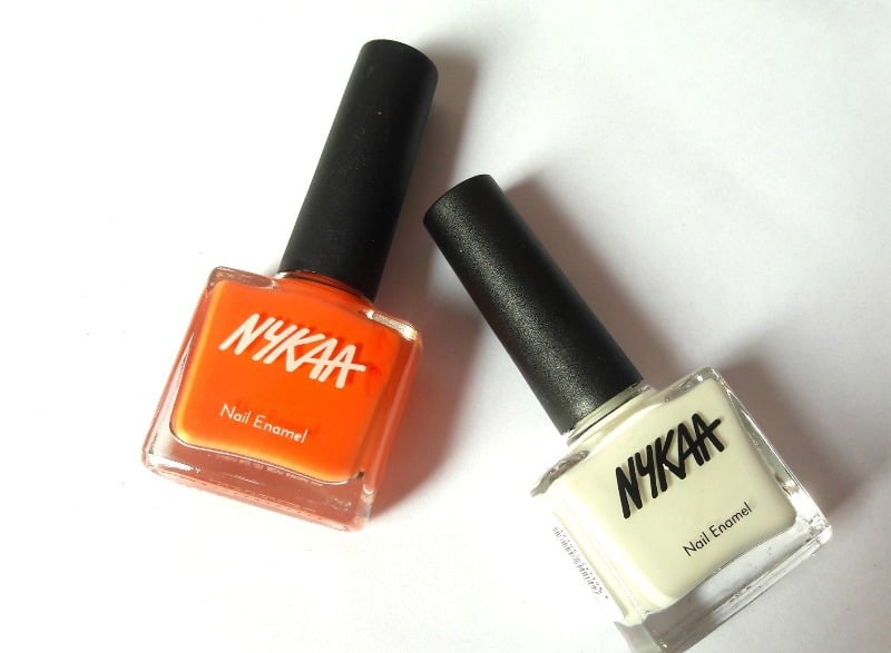 Nykaa Nail Enamel Orange Fizz and Marshmallow Dream