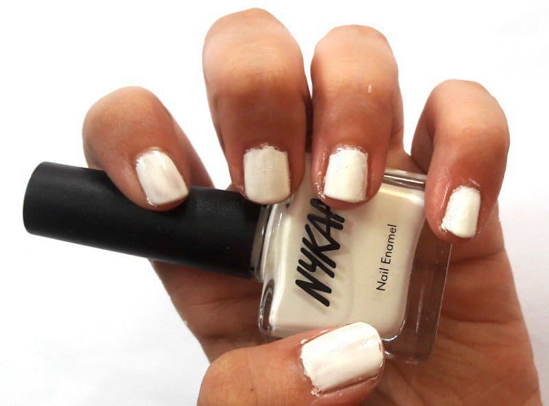 Nykaa Nail Enamel Orange Fizz and Marshmallow Dream 3