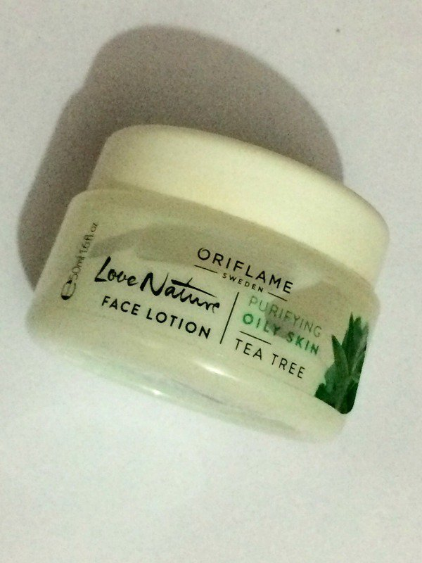 Oriflame Love Nature Face Lotion Tea Tree Review