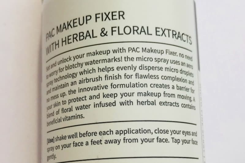 Pac Micro Finish Makeup Fixer  4