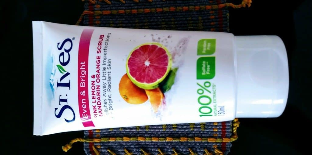 St Ives Even and Bright Pink Lemon and Mandarin Orange Facial Scrub Review