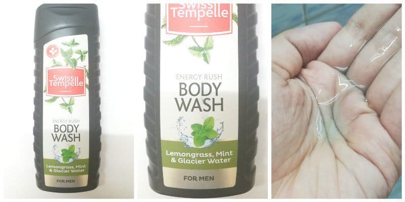 Swiss Tempelle Energy Rush Body Wash For Men
