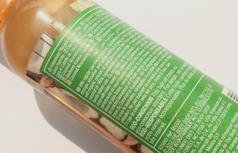 The Body Shop Rainforest Coconut Hair Oil  1