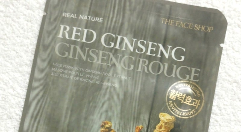 The Face Shop Real Nature Red Ginseng Face Mask 1